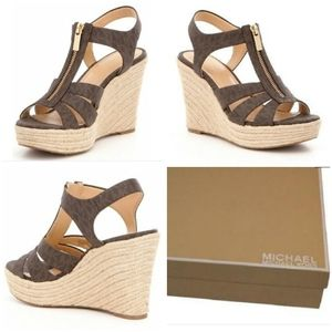 Michael Kors Berkley MK Logo Wedge